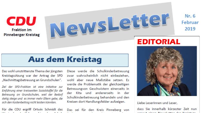 Newsletter der CDU-Kreistagsfraktion Pinneberg - 02.2019